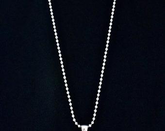 Clock Pendant Necklace - Round Silver Tone Photo Pendant