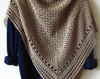 Hourglass Shawl Crochet Pattern  PDF