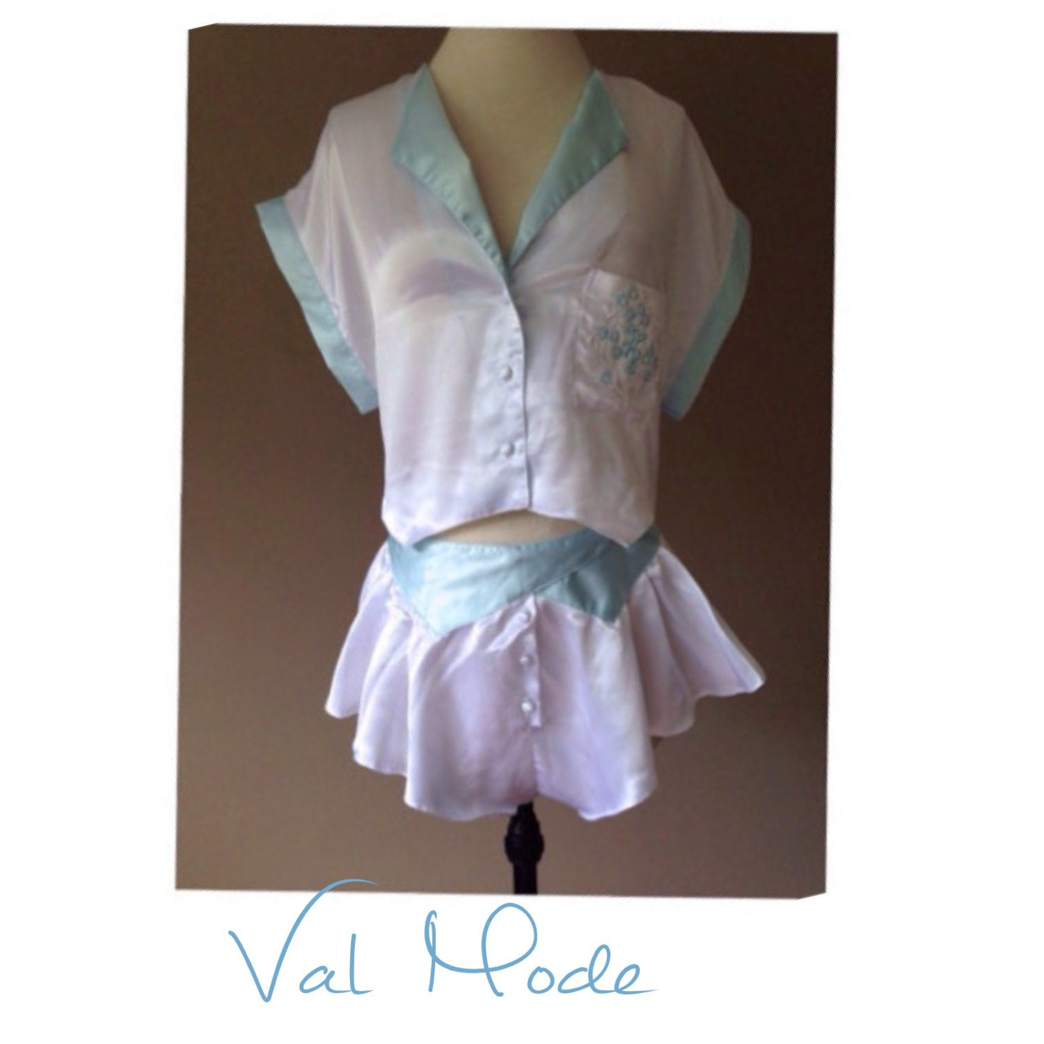 S Satin Lingerie Set White Tap Pants Amp Sleep Top By