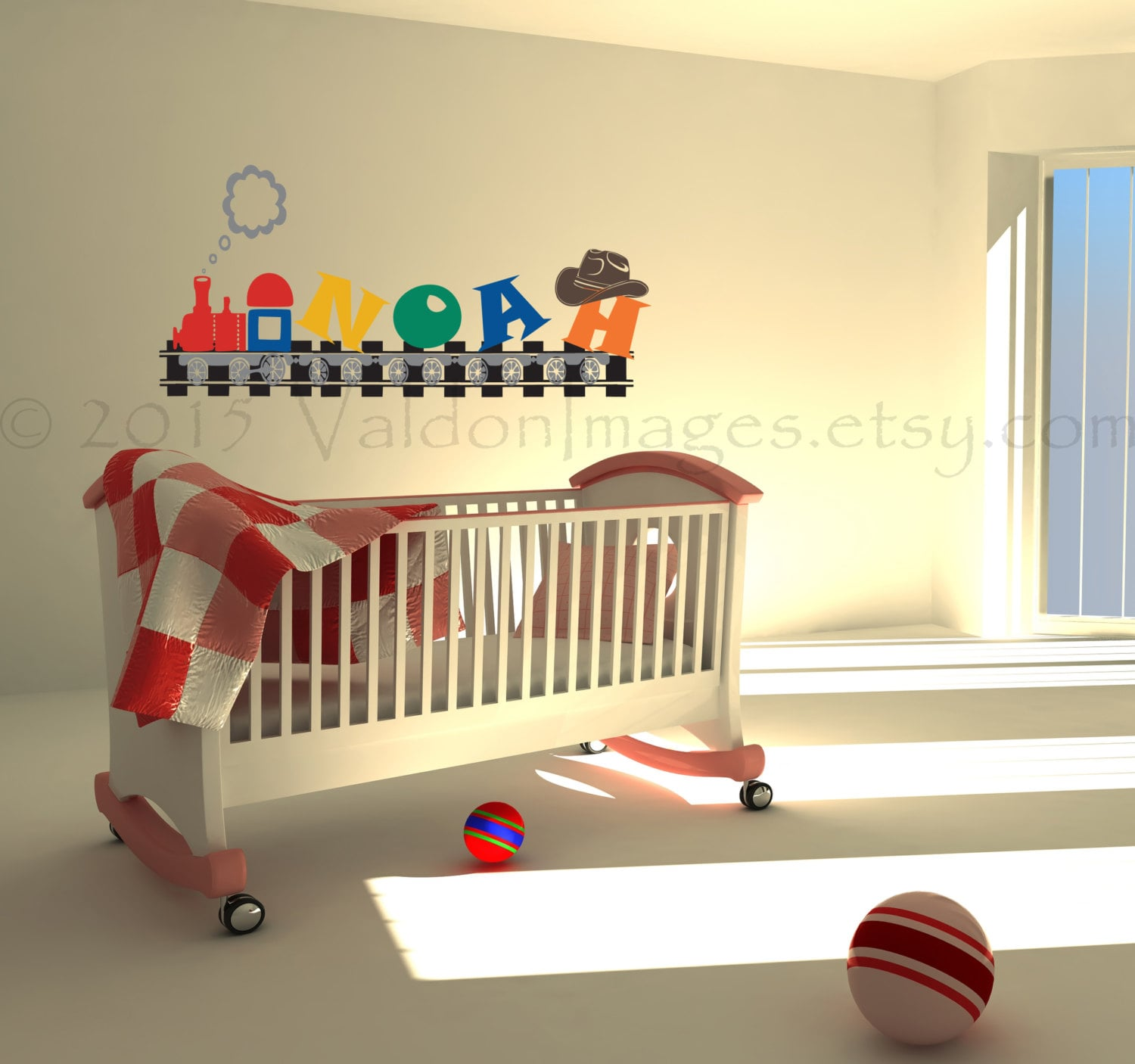 Name Wall Decals For Nursery Tags: Name Train Nursery Wall Decal Personalized Wall Decal Kids