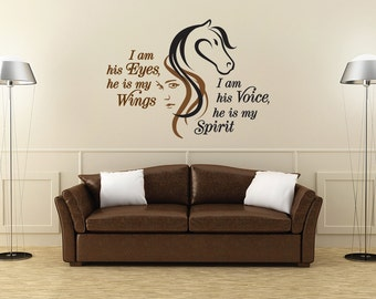 Horse Wall Quote Decal_Equestrian_25.5 wide x 18 high
