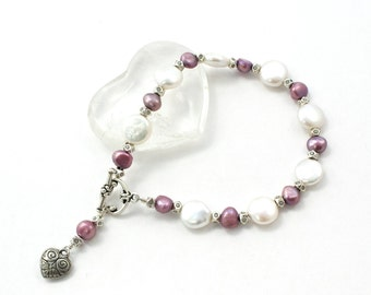 Valentine Bracelet For Her | Valentine Heart Bracelet | Valentine Jewelry For Her | Freshwater Pearl Bracelet | Solana Kai Designs