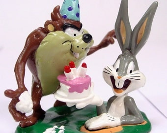 Bugs Bunny Cake topper Tasmanian Devil Tazz figure decopac decoration candle icing party hat