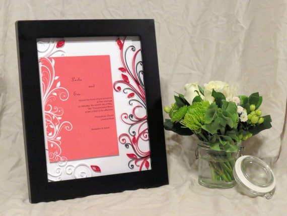 Made Wedding Gift / Wedding Invitation Frame / Custom Couple Gift ...
