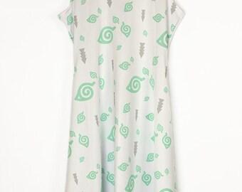 NARUTO Shippuden Konoha Hidden Leaf Sleeveless Dress - Made to Order