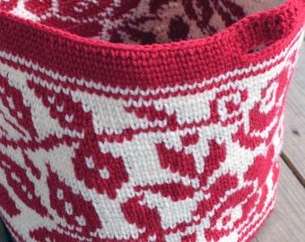 Rose Tote   Crochet Pattern