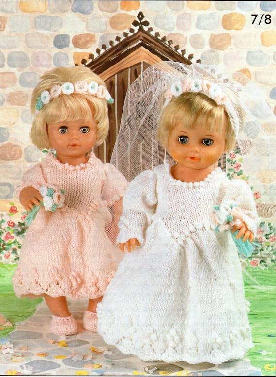 Baby dolls clothes knitting patterns pdf dolls wedding dress for Baby doll wedding dress