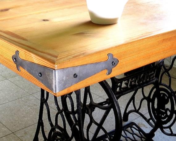 2 DECOR CORNER BRACES Big Wrought Iron Angle Plates Furniture ...