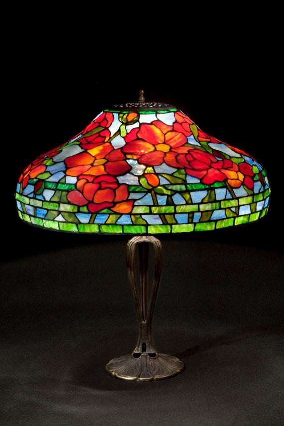 Peony Tiffany lamp