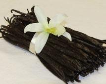 5 Organic Indonesian Vanilla Beans--Premium Grade--5 Beans