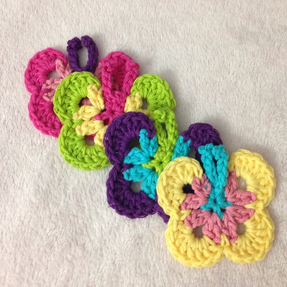 Free Download Crochet Butterfly Pattern : Crochet Butterfly Pattern / Tutorial: Crochet Butterfly