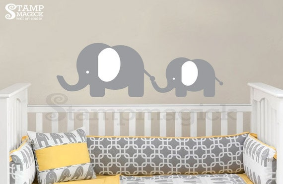 Cute Baby Elephant Wall Decal - Nursery Animals Vinyl Wall Art Decor for Baby's Room - K238