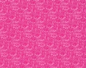 Tula Pink Daisy Buds Fuchsia True Colors Freespirit Fabric 1 yard