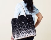 Splatter Tote Bag - Black