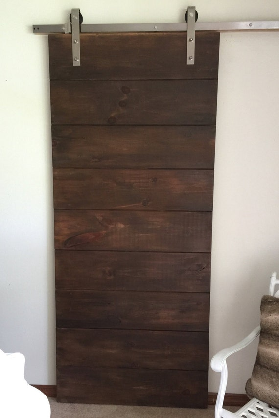 Rustic Horizontal Plank Sliding Barn Door Sliding Barn Door