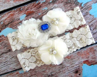 Something Blue Wedding Garter, Bridal Garter, Garter ,Royal Blue Garter Set , Wedding Garter Set ,Toss Garter included
