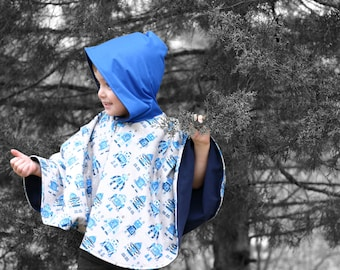 Riding Hood Poncho PDF Pattern 6mos - 8yrs