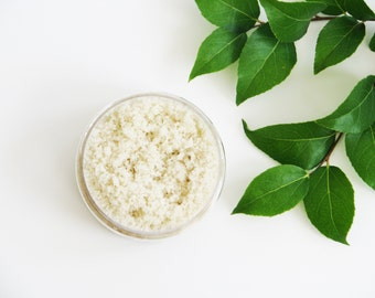Organic Sugar Scrub | Virgin Coconut + Neem, Natural, Shower Bath, Vegan Skin Care, Spa Gift, Exfoliating, Choose Your Scent, Body Polish