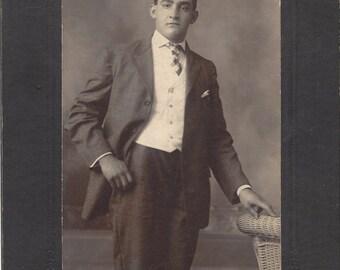 Vintage Cabinet Card - A Benoit Photographer - Southbridge  Massachusetts