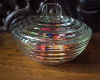 French vintage, beautiful bonboniere glass dating from the 1950s.