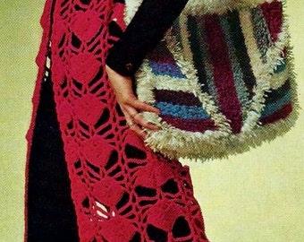 Maxi Length Vest Vintage Crochet Pattern Download