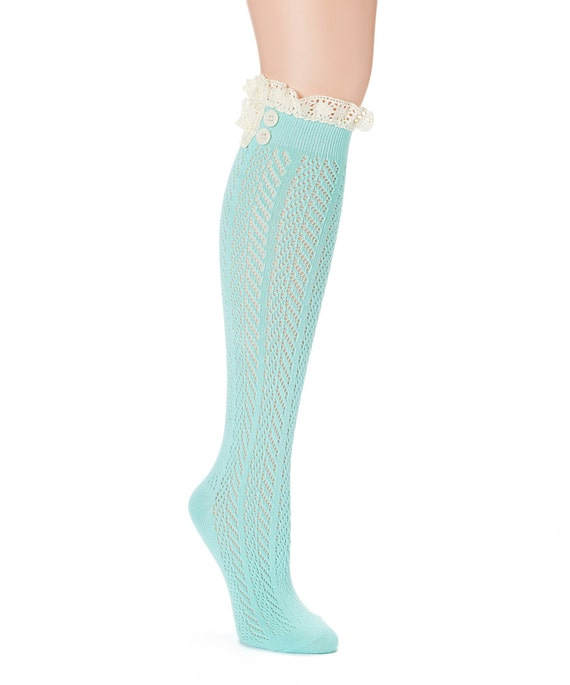 lace knee high s boot socks kdc bs
