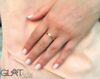 Gold wedding ring, Unisex Wedding Band, Gold Wedding Ring, Promise Ring, Modern Ring, gold stacking ring, unisex band, unisex