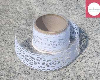 Ribbon, White Lace, Decorative Tape, Floral Design, Lace Ribbon, Gift Packaging