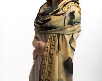 Wool Scarf, Scarf Wool, Long Scarf, Extra Long Scarf, Womens Scarf, Womens Wool Scarf, shawl, shawls, wool shawl, Printed Scarf, neck scarf