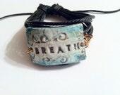 Essential Oil Jewelry Aromatherapy Jewelry Diffuser Porcelain Ceramic Leather Multi Strand Bracelet Breath