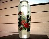 vtg Interpur Japanese Vase Imperial Gold Trimmed Peacocks Flowers Vintage Art Decor Gift Ideas