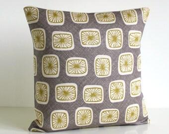 18 inch pillow cover, Premium Pillow Cover, Decorative Throw Pillow, 18x18 Cushion Cover, Linen Cotton Pillow Cover - Porcini Chartreuse