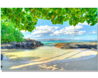 Secret Beach Maui Photo   Hawaii photo   hawaiian image   maui beach photo   Tropical Photo   Hawaiian art   tropical decor