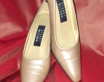 Stuart Weitzman Champagne Color Pumps Size 6.5 B Made in Spain
