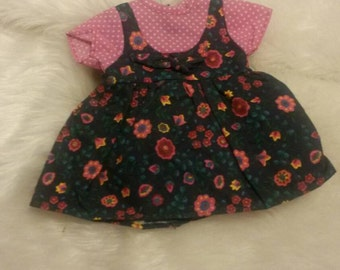 Vintage Flower Doll Dress