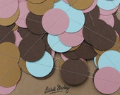 Brown, Pink, Gold and Spearmint 45mm bunting