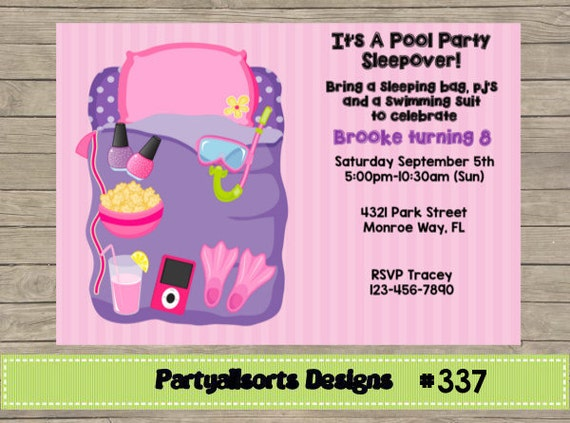 Free Slumber Party Invitations for great invitations template