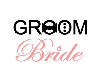 Wedding Bride & Groom instant download cut file for cutting machines - SVG DXF DPS ps Studio3 Studio