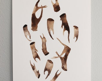 Antlers - Original Watercolour Illustration