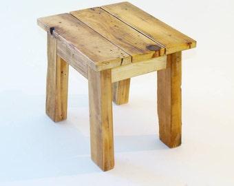 Items Similar To Rustic Reclaimed Wood Farmhouse Stool
