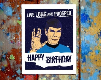 Spock Happy Birthday Card Leonard Nimoy Star Trek