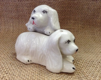 Puppy love Salt and Pepper Shakers
