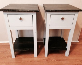 Handmade Mini Farmhouse Bedside Table/Nightstand