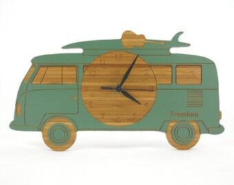 VW Camper Van Clock - Green