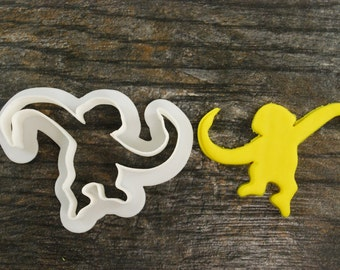 Barrel Monkey Cookie Cutter, Mini and Standard Sizes, 3D Printed