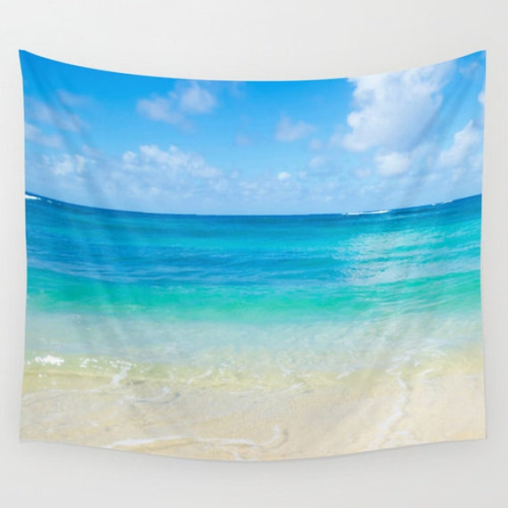 Ocean Wall Tapestry With Tropical Beach In By Ellensmilephoto