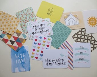 Project Life Cards, Journaling Cards, Scrapbooking Cards, Filler Cards, Assorted Cards - 10 Cards