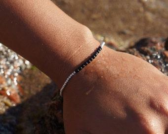 Bracelet Perles d'Argent 925 & Perles Noires onyx, Automne-hiver, printemps-été 2017