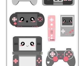 T014- Videogame Nerd Stickers
