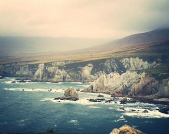 Ireland print - Ireland Decor - Ireland Photo - Cliffs print - Sea print - Sea Photo - Sea Decor - Sky print - Coast print - Blue print -Art